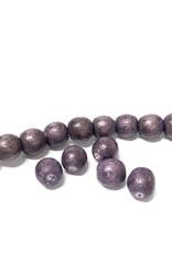 Perlen aus Holz, 6 mm, Farbe B13 natural lila
