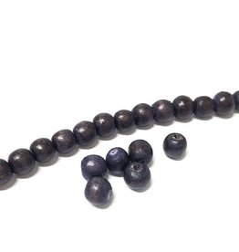 Perlen aus Holz, 6 mm, Farbe B14 natural brown dark Lila