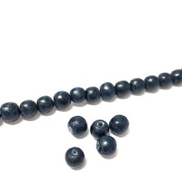Perlen aus Holz, 6 mm, Farbe B17 natural dark blue