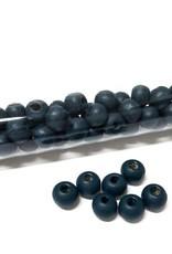 Perlen aus Holz, 6 mm, Farbe B21 deep dark teal