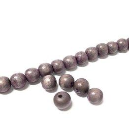 Perlen aus Holz, 6 mm, Farbe B12 natural light Lila