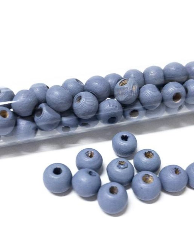 Perlen aus Holz, 6 mm, Farbe B15 lavender sky