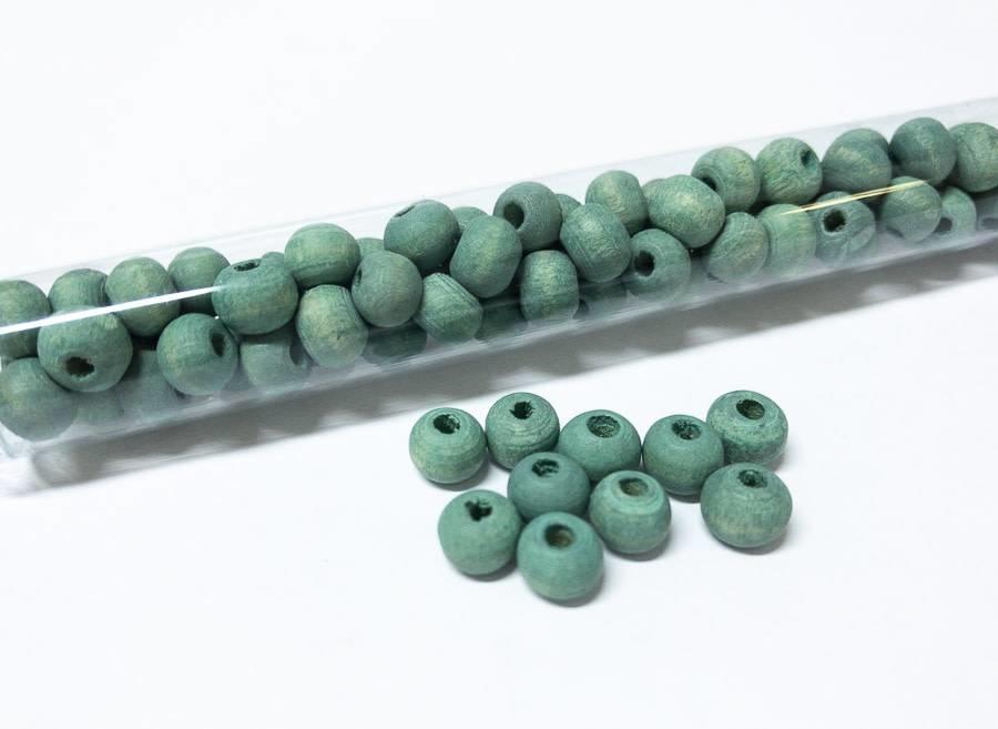 Perlen aus Holz, 6 mm, Farbe B23 seafoam