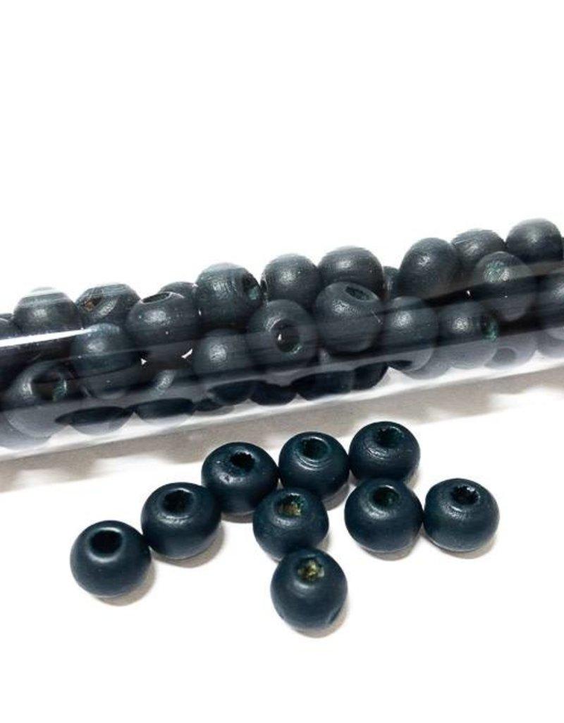 Perlen aus Holz, 6 mm, Farbe B22 dark teal