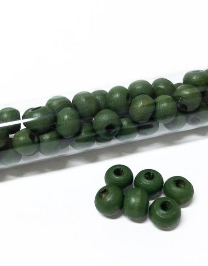 Perlen aus Holz, 6 mm, Farbe B24 green
