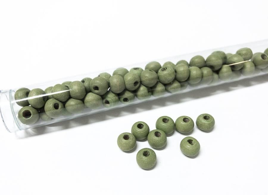 Perlen aus Holz, 6 mm, Farbe B25 light green
