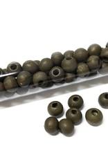 Perlen aus Holz, 6 mm, Farbe B27 dark olive