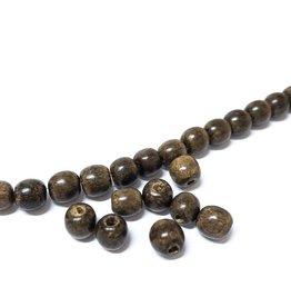 Perlen aus Holz, 6 mm, Farbe B28 natural greywood