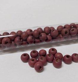 Perlen aus Holz, 6 mm, Farbe B36 wine