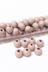 Perlen aus Holz, 6 mm, Farbe B33 vintage pink