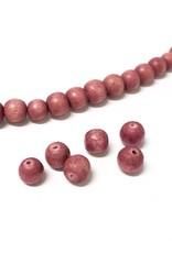 Perlen aus Holz, 6 mm, Farbe B35 natural rose