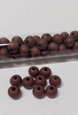 Perlen aus Holz, 6 mm, Farbe B37 marsala