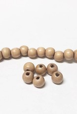 Perlen aus Holz, 6 mm, Farbe B40 natural beige