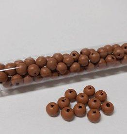 Perlen aus Holz, 6 mm, Farbe B43 cognac