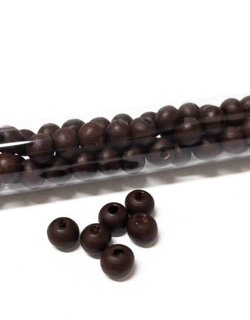 Perlen aus Holz, 6 mm, Farbe B44 ebony