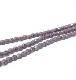 Glasschliffperlen feuerpoliert 4mm, Farbe Lavender opaque