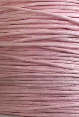 gewachste Baumwollkordel 1mm, Farbe 37 rose blush