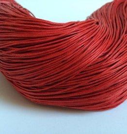 gewachste Baumwollkordel 1mm, Farbe 41 rot