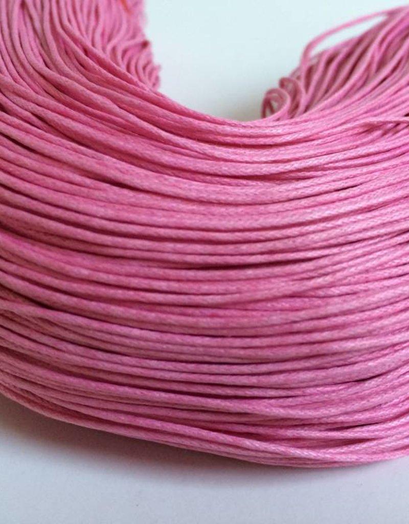 gewachste Baumwollkordel 1mm, Farbe 36 pink