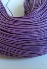 gewachste Baumwollkordel 1mm, Farbe 32 lila