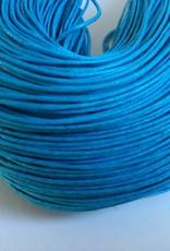 gewachste Baumwollkordel 1mm, Farbe 25 türkisblau