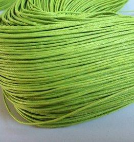 gewachste Baumwollkordel 1mm, Farbe 17 hellgrün
