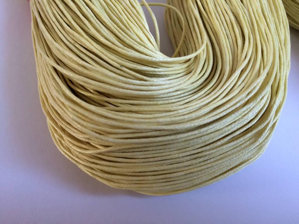 gewachste Baumwollkordel 1mm, Farbe 12 vanille