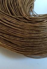 gewachste Baumwollkordel 1mm, Farbe 08 caramel