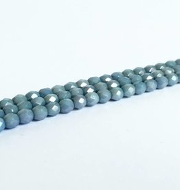 Glasschliffperlen feuerpoliert 4mm, Farbe 24 Jeans Blue Luster