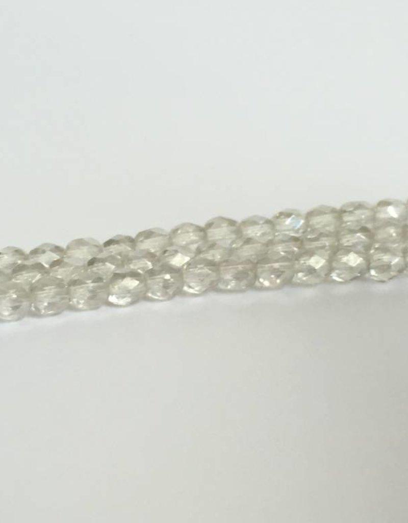 Glasschliffperlen feuerpoliert 4mm, Farbe 09 Crystal Luster