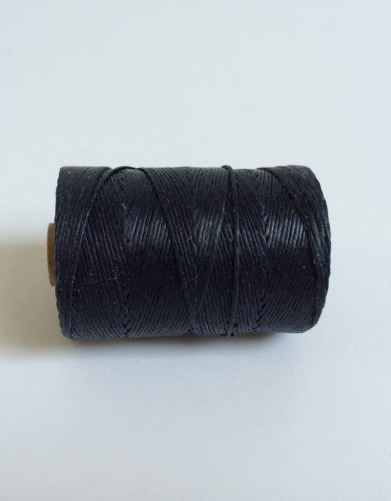 gewachstes Leinengarn 4 ply, Farbe 07 navy blue