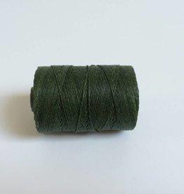 gewachstes Leinengarn 3 ply, Farbe 13 dark emerald green