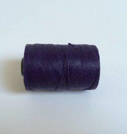 gewachstes Leinengarn 3 ply, Farbe 18 plum