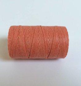 gewachstes Leinengarn 3 ply, Farbe 24 salmon