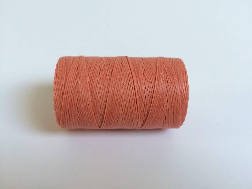 gewachstes Leinengarn 3 ply, Irish Waxed Linen, Farbe 24 salmon
