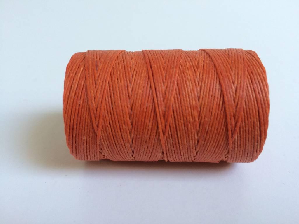 gewachstes Leinengarn 3 ply, Irish Waxed Linen, Farbe 25 orange crush
