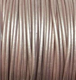 Lederkordel rund Ø 1,5 mm, metallic rose