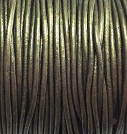 Lederkordel rund Ø 1,5 mm, metallic olive