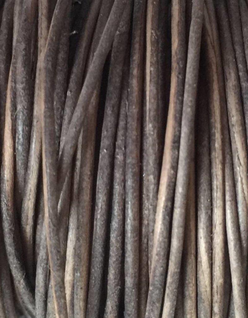 Lederkordel rund Ø 1,5 mm, natural grey