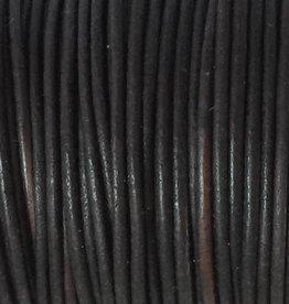 Lederkordel rund Ø 1,5 mm, natural dark brown
