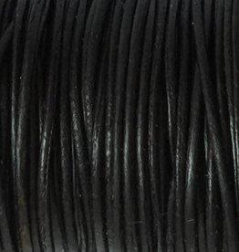 Lederkordel rund Ø 1,5 mm, natural black