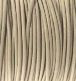 Lederkordel rund Ø 1,5 mm, beige