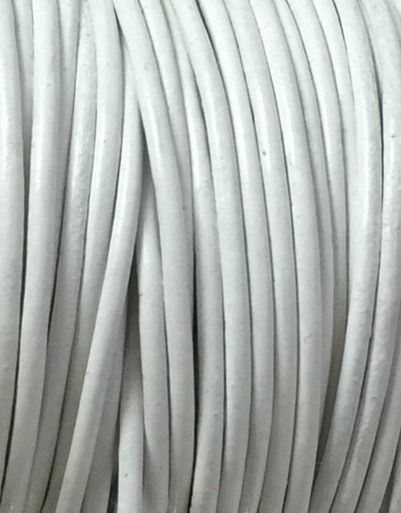 Lederkordel rund Ø 1 mm, weiss