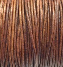 Lederkordel rund Ø 1 mm, natural light brown