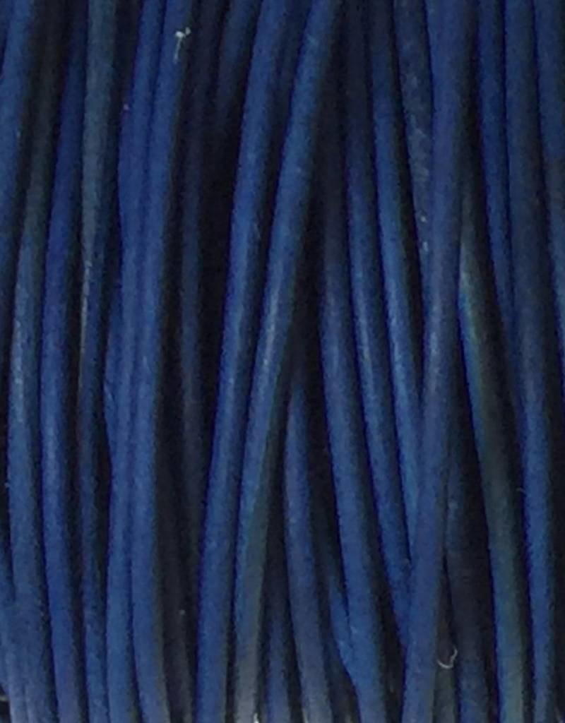 Lederkordel rund Ø 1 mm, natural dye royal blue
