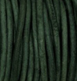 Lederkordel rund Ø 1,5 mm, natural green