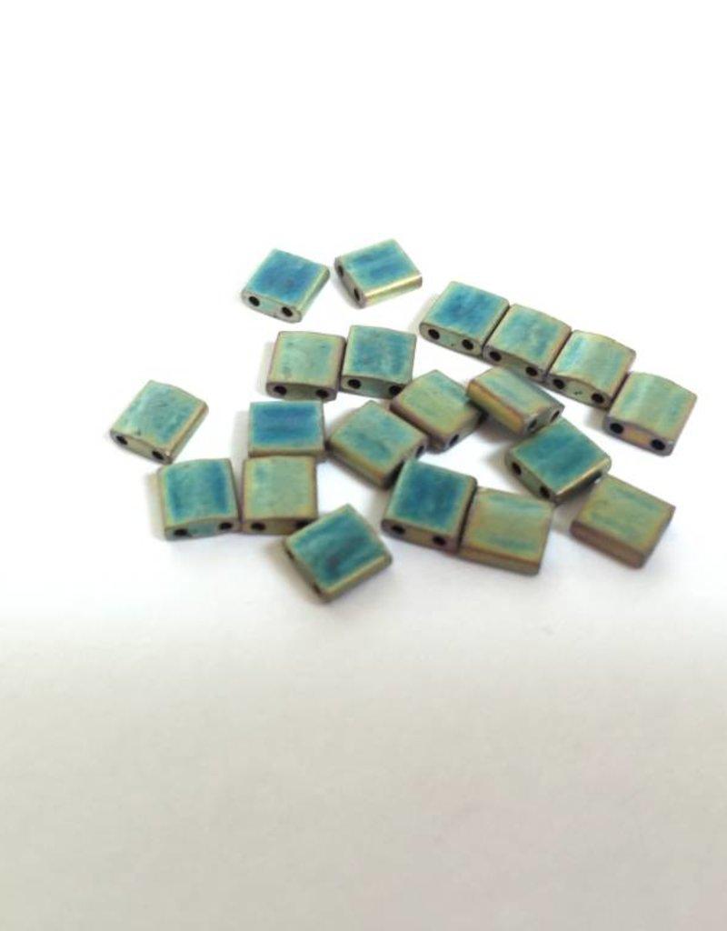 Miyuki Tila Beads, Farbe Matte Met Khaki Iris