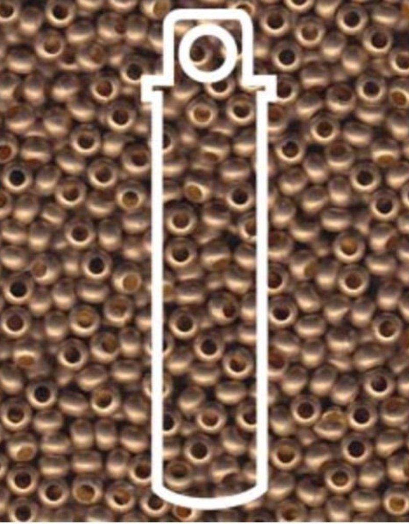 Metallperlen 11/0 - Heavy Metal Seed Beads - gilding matte