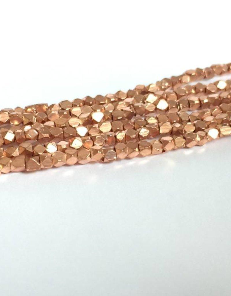 Metallwürfel - Cornerless Cubes 3,2 mm, copper plated brass
