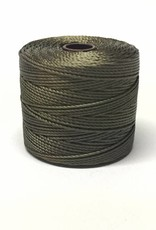 BeadSmith Super-Lon Nylongarn Standard TEX 210, Farbe 26 olive